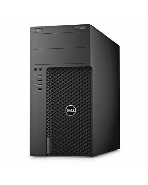 Dell Precision 3620 Tower, Nero, Intel Xeon E3-1240 v6, 8GB RAM, 1TB SATA, 2GB NVIDIA Quadro P400, DVD-RW, EuroPC 1 Anno Di Garanzia, Inglese Tastiera