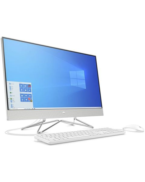 HP 27-dp0031na All-in-one, argento, Intel Core i3-10100T, 8 GB di RAM, SSD da 256 GB, FHD da 27