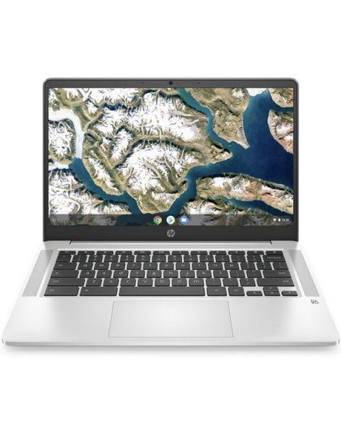 HP Chromebook 14A-na0007na, Silber, Intel Celeron N4000, 4GB RAM, 64GB eMMC, 14