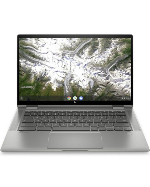 HP Chromebook x360 14c-ca0004na, Argento, Intel Core i3-10110U, 8GB RAM, 128GB SSD, 14