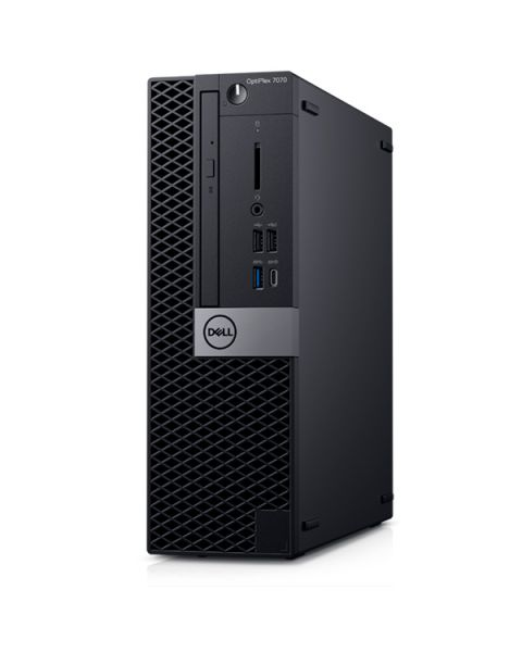 Dell OptiPlex 7070 Small Form Factor, Nero, Intel Core i5-9500, 8GB RAM, 256GB SSD, DVD-RW, Dell 2 Anni Di Garanzia, Inglese Tastiera