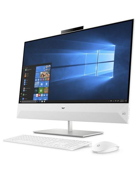 HP Pavilion 27-xa0037nl All-in-one, Weiß, Intel Core i7-9700T, 8GB RAM, 256GB SSD, 27
