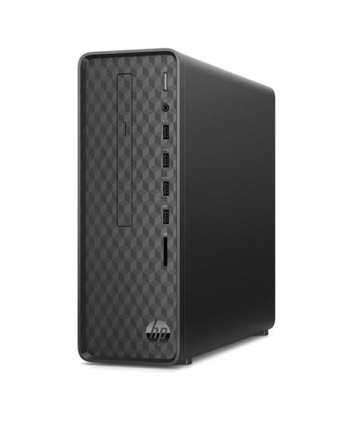HP Slim S01-aF1003na Desktop, Schwarz, Intel Celeron J4005, 4GB RAM, 1TB SATA, DVD-RW, HP 1 Jahr Garantie, Englisch Tastatur